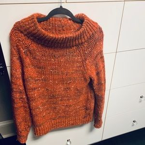 Anthropologie orange sweater .